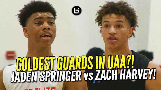 CRAZY GUARD BATTLE! Jaden Springer vs Zach Harvey! UAA Highlights!