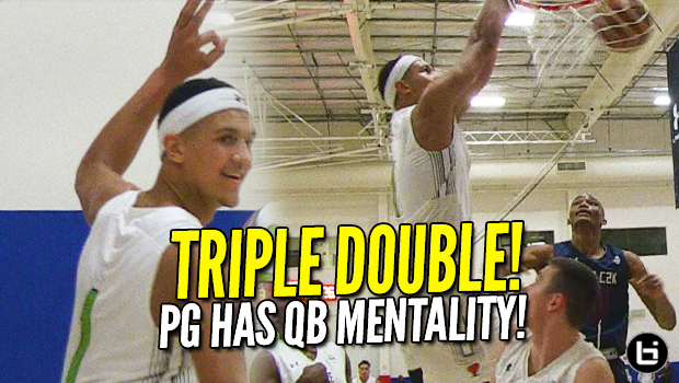 Jalen Suggs TRIPLE DOUBLE! 5-Star PG with QB MENTALITY! Big Dain Dainja Dominates!