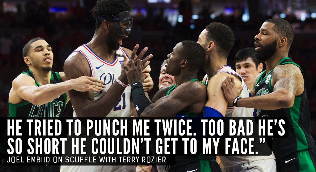 Joel Embiid Disses Terry Rozier After GM4 Scuffle, Morris Disses Embiid