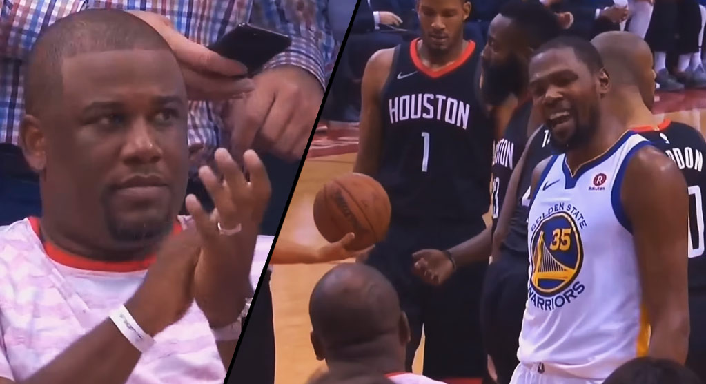Kevin Durant & Chris Paul's Big Brother Exchange Words During Game 2