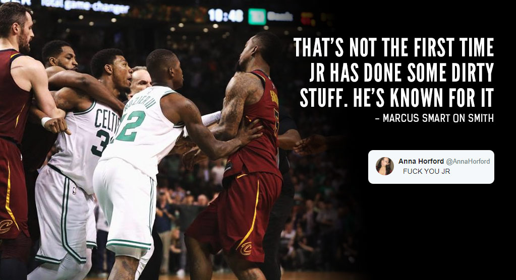"Reactions To JR Smith's ""Dirty"" Flagrant Foul on Al Horford"