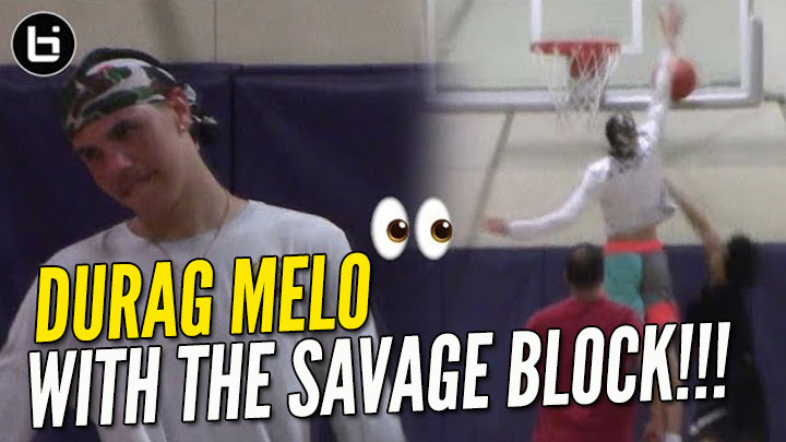 DuRag Melo Pins Innocent Hoopers Shot On The Backboard!