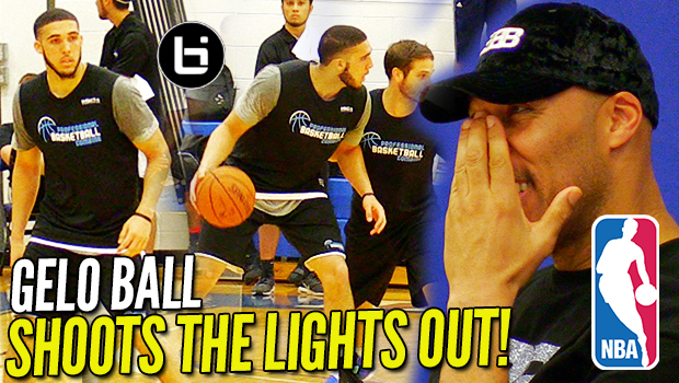 LiAngelo Ball SHOT THE LIGHTS OUT in Front of 20+ NBA Scouts! Pre Draft Scrimmage Highlights!
