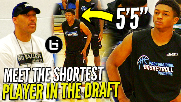 Lavar Ball WATCHES the SHORTEST PLAYER in the DRAFT! 5'5″ Junior Robinson PBC Highlights!