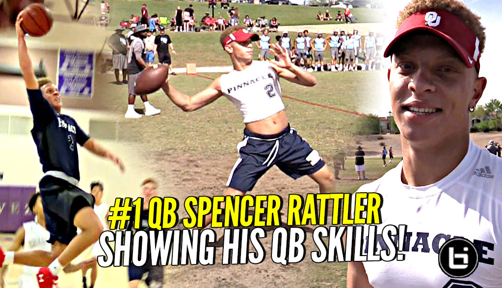 #1 QB & Basketball Star Spencer Rattler Showing WHY HE'S #1 QB!! Football Is Life?
