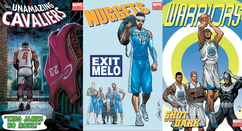 ESPN & Marvel's NBA Comic Covers