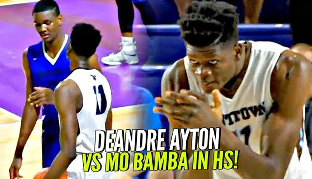 "DeAndre Ayton vs Mo Bamba & His 7'10"" Wingspan In High School!! #1 vs #2 Potential Draft Picks!"