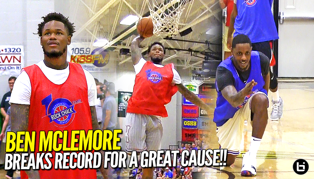 """IT'S ALWAYS FOR THE KIDS!"" Ben McLemore ERUPTS For 52 POINTS at Rock Chalk Roundball Classic!"