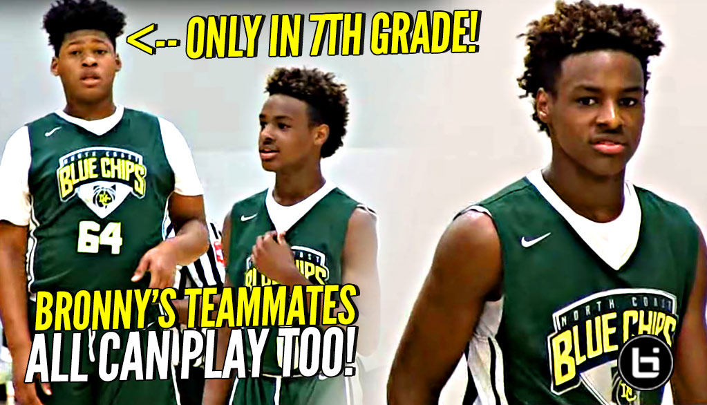 LeBron James Jr Takes OVER In The Clutch! Blue Chips WHOLE Squad Is Nice Though! Midwest Mania Highlights!