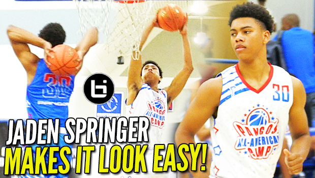 Jaden Springer MAKES IT LOOK EASY! Pangos AA Camp Highlights!