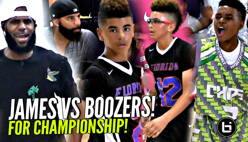 LEBRON JAMES Son Vs CARLOS BOOZER'S Sons! Bryce James vs Cayden & Cameron Boozer in Championship!