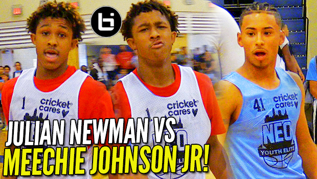 "Julian Newman vs MEECHIE ""I AINT MISSING!"" JOHNSON Jr! 43 Points at NEO!"