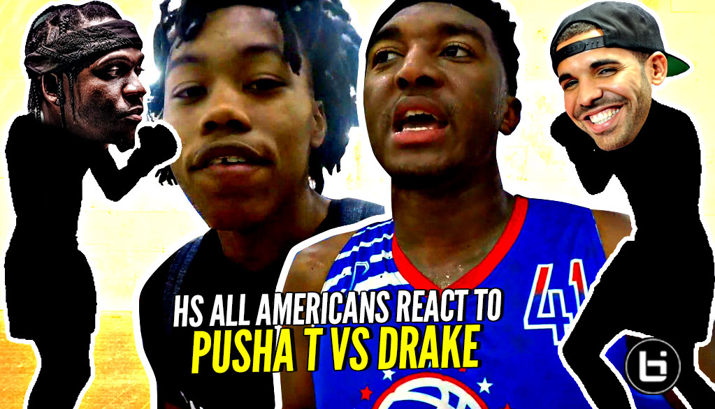 All Americans React To DRAKE vs PUSHA T Battle! Kyree Walker, Scottie Barnes, etc Decide WHO WON!