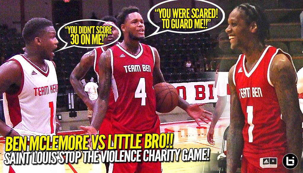 Ben McLemore vs Little Brother For $1000 at Stop The Violence Charity Game!