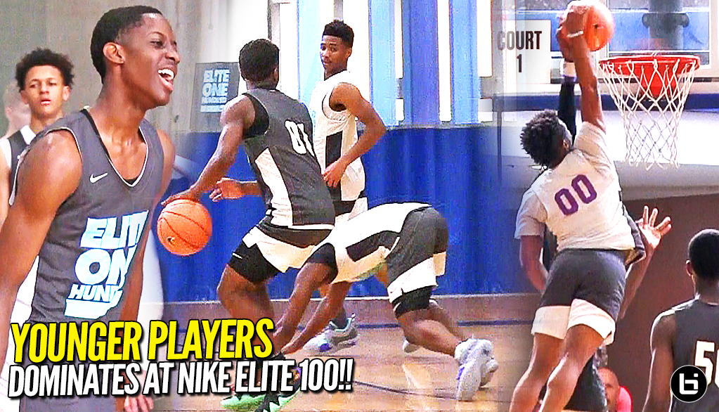 YOUNGER PLAYERS DOMINATING OLDER PLAYERS! Zion Harmon & Terrence Clarke Shows OUT at Nike Elite 100