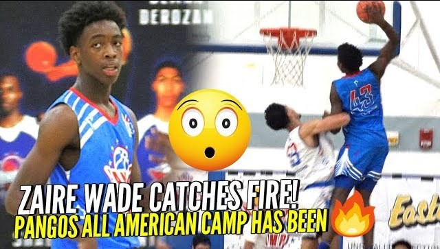 """Young Flash"" Zaire Wade CATCHES FIRE at Pangos All American Camp!!! + Dude Gets POSTERIZED BAD!"
