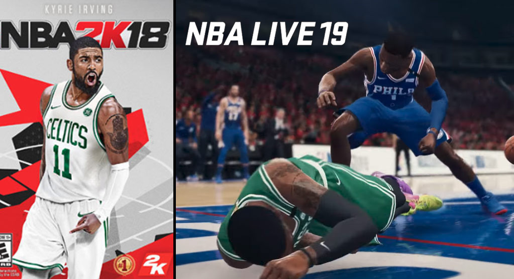 2K18 Cover Athlete Kyrie Irving Gets Embarrassed In The New NBA Live 19 Trailer