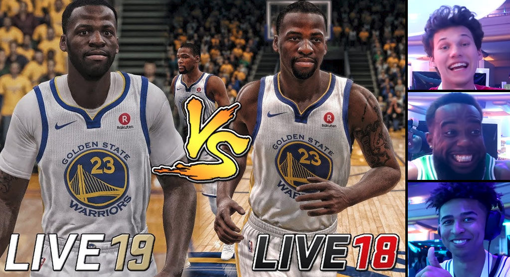 YouTube Gamers React To Playing NBA Live 19