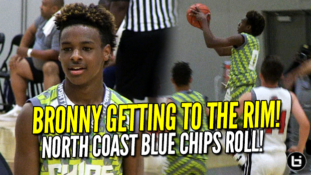 LeBron James Jr's North Coast Blue Chips 2023 on a Roll! Midwest Mania Full Highlights!