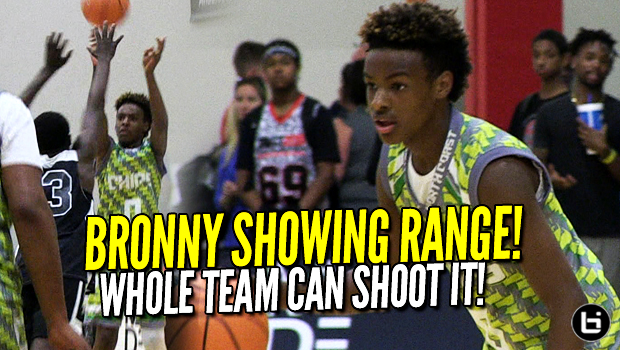 LeBron James Jr SHOWS RANGE! North Coast Blue Chips CAN SHOOT! Full Midwest Mania Game Highlights!