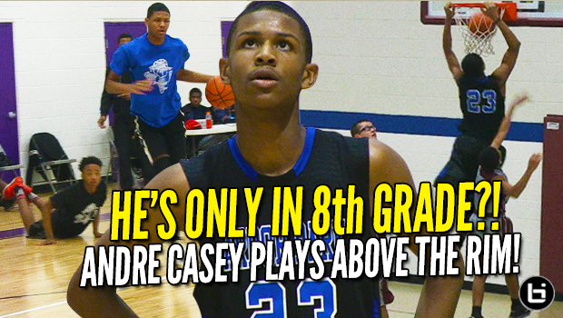 14 Year Old Andre Casey Jr Plays Above The Rim! 8th Grader CRAZY Season Highlights!