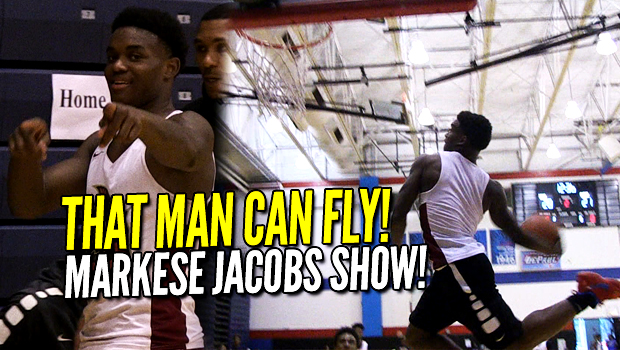Markese Jacobs DUNKS EVERYTHING! Kansas Commit is a FREAK ATHLETE!