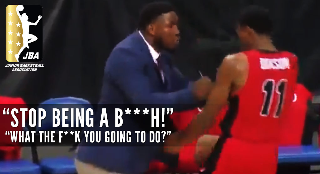 """JBA Coach Repeatedly Pushes Player, Tells Him To """"Stop Being A B—h"""" During Game"""