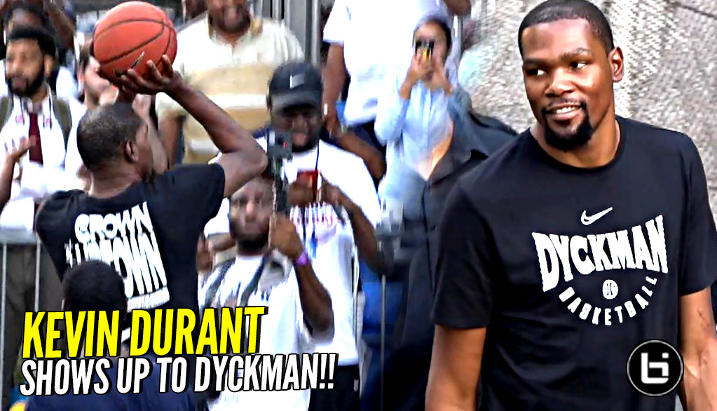 Kevin Durant BACK at Dyckman Park! Shows Love To The Community w/ Quinn Cook