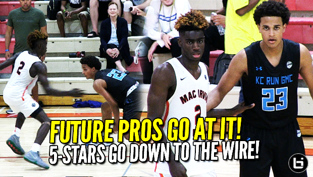 CRAZY FINISH! 5-Star Wings: Kahlil Whitney vs Jeremiah Robinson-Earl! Mac Irvin Fire vs KC Run GMC at Summer Jam!