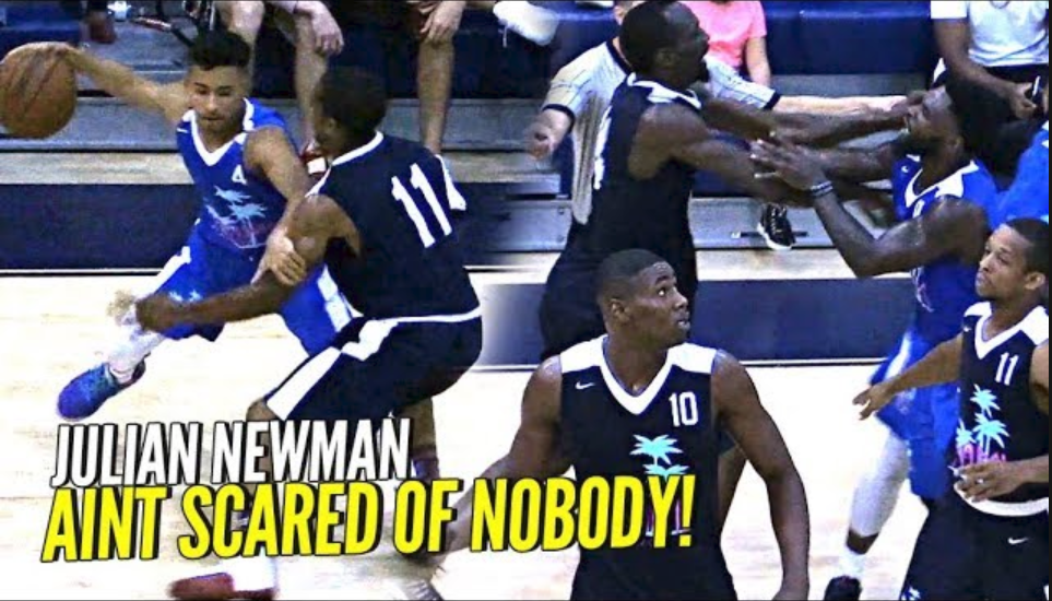 Julian Newman TEAMS UP w/ NBA PROs!! Puts On a SHOW w/ Michael Beasley!