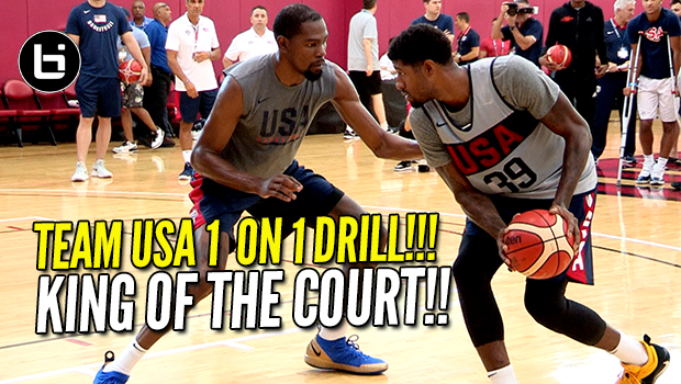 USA BASKETBALL CRAZY 1 ON 1 DRILL! Kevin Durant, Paul George & More!