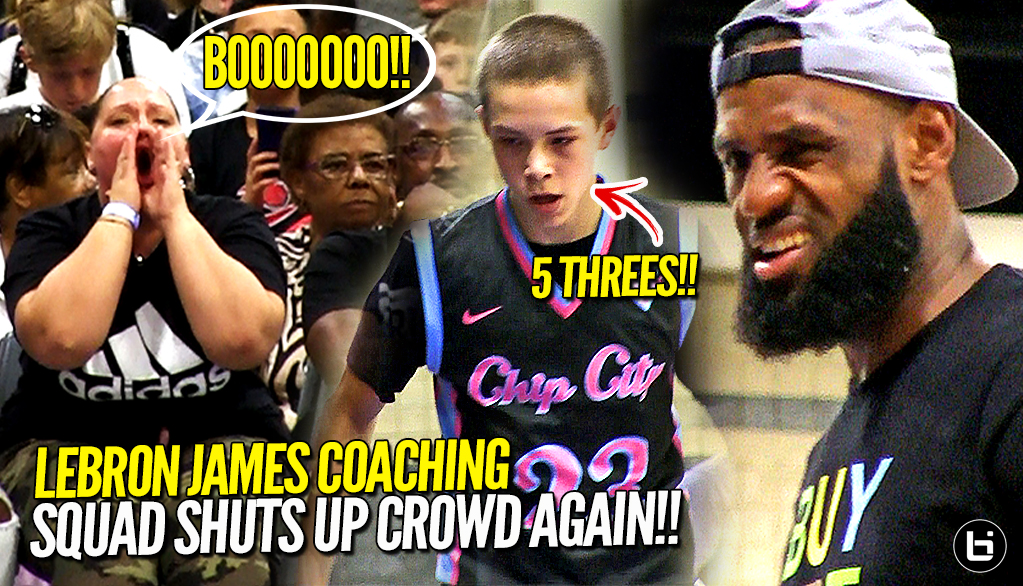 LeBron James COACHING Bronny James Jr. & Blue Chips SHUTS UP Crowd Again!!