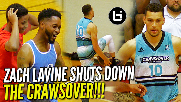 Zach LaVine Drops 50 POINTS & CRAZY BETWEEN THE LEGS DUNK at Crawsover!!! BOUNCE Is Still CRAZY