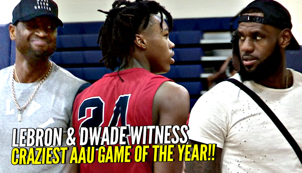 Malachi Wideman Gets Lebron & DWade Out Of Their Seat! Scotty Barnes Dabs To A Dramatic Finish!