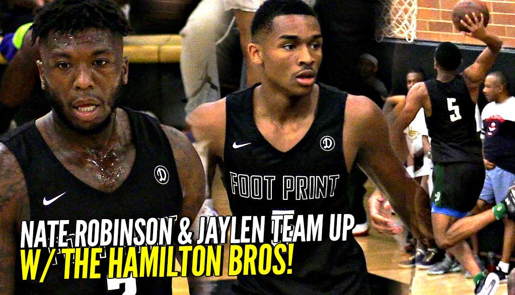 Nate Robinson & Jaylen Hands TEAM UP at The Drew League W/ The Hamilton Bros!!