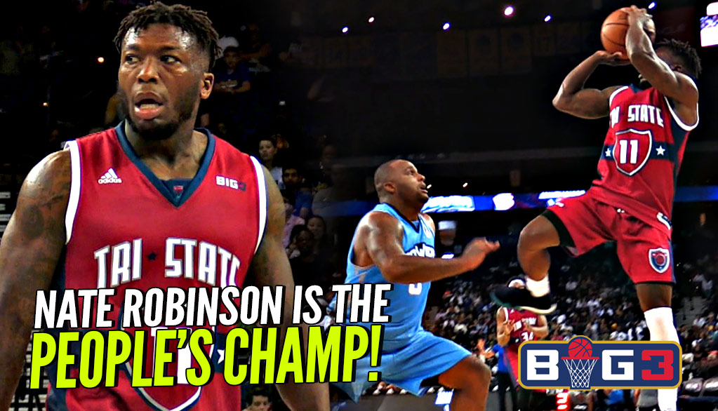 Nate Robinson GETS FANCY vs BIG BABY Davis!! Tri State vs Power BIG 3 Season 2!