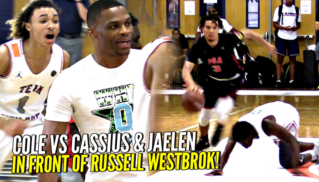 Cole Anthony vs Cassius & Jaelen House INTENSE BATTLE w/ Russell Westbrook Coaching!!!