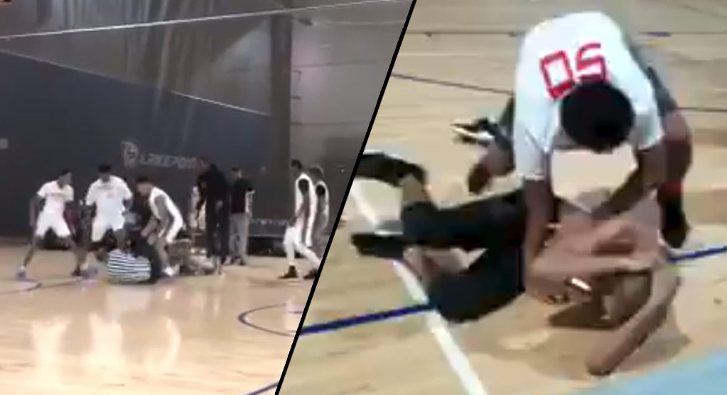 Brawl Between Players & Refs Breaks Out At AAU Basketball Game