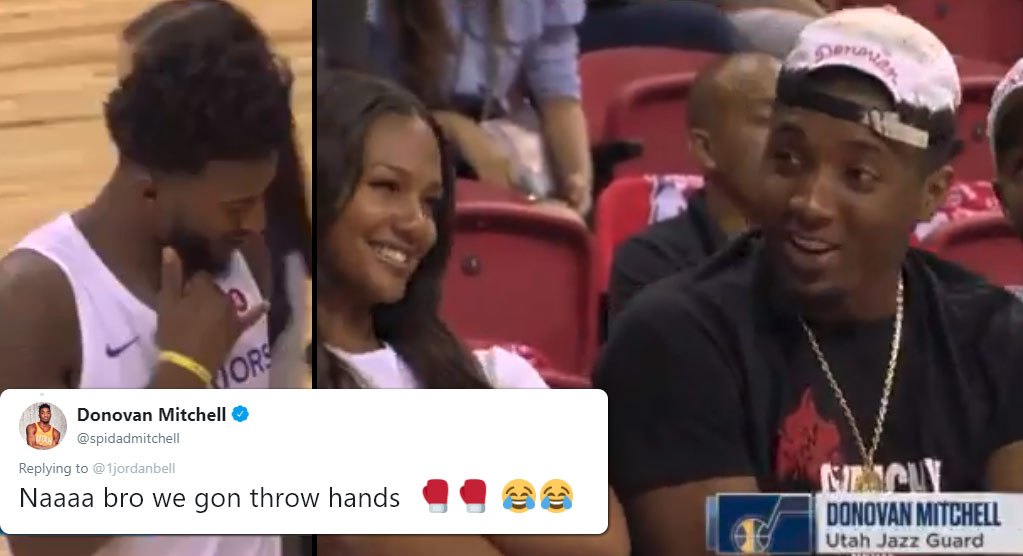 Here's What Definitely Did Not Happen Between Donovan Mitchell, His GF & Jordan Bell During A Summer League Game