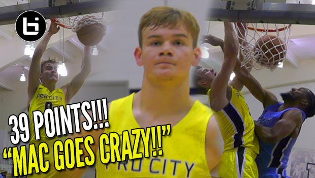 College Mac McClung Is HERE!! Dominates w/ 39 POINTS & CRAZY Dunks in 2nd Georgetown Game!!