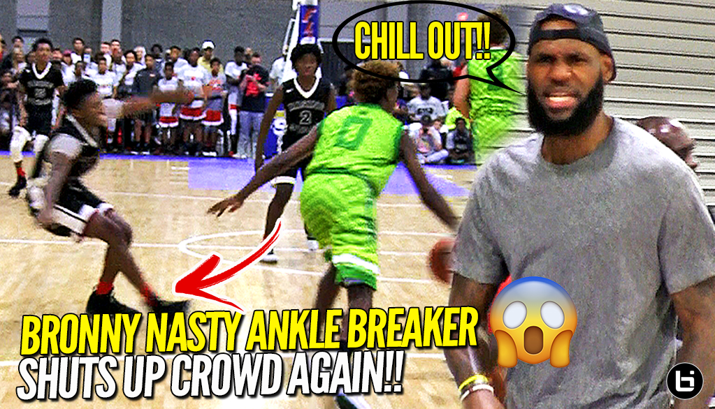 Lebron James Watches Bronny Jr. BREAKS Defender's Ankles After Crowd Chants OVERRATED AGAIN!!