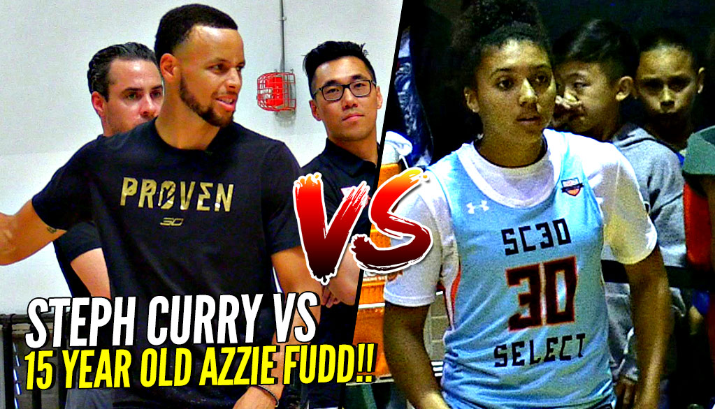 Steph Curry vs 15 Year Old Azzie Fudd!!! Female Hooper Beat ALL THE BOYS Then Challenges Steph!