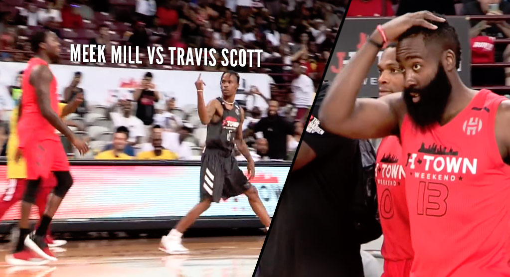 James Harden & Russell Westbrook Reunite In Charity Game With Travis Scott & Meek Mill