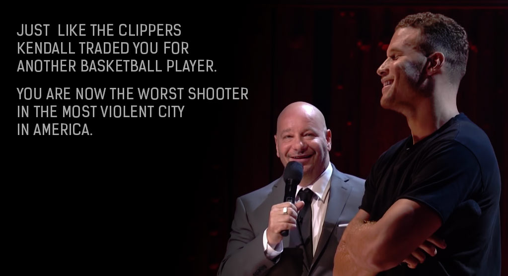 Full Roast Battle Between Blake Griffin & Jeff Ross aka The LeBron of Roasting