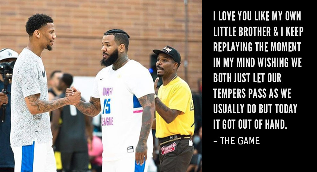 The Game Apologizes For Punching Teammate At Drew League