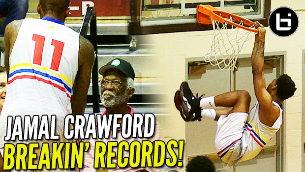Jamal Crawford BREAKS RECORD w/ NBA LEGEND BILL RUSSELL at The Crawsover!!!