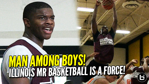 Illinois Mr Basketball EJ Liddell is a Man Among Boys! Summer Highlights!