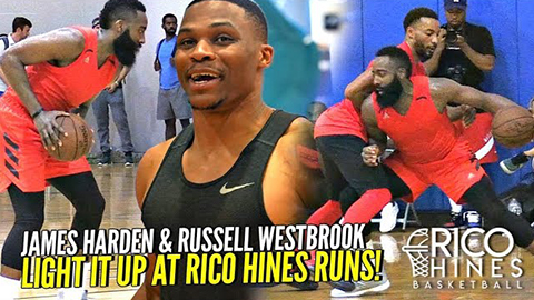 James Harden, Russell Westbrook & Paul George BRING THE HEAT to Rico Hines Private NBA Runs!!