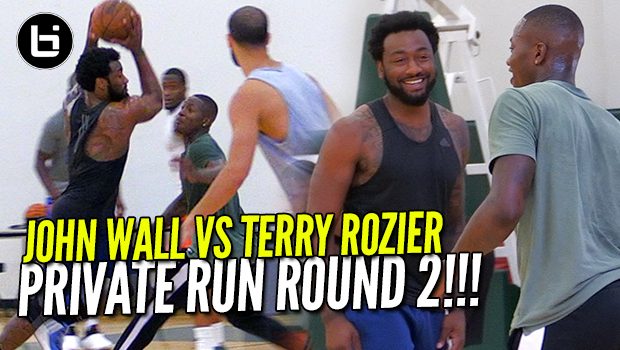John Wall VS Terry Rozier Round2 At Private NBA Run!