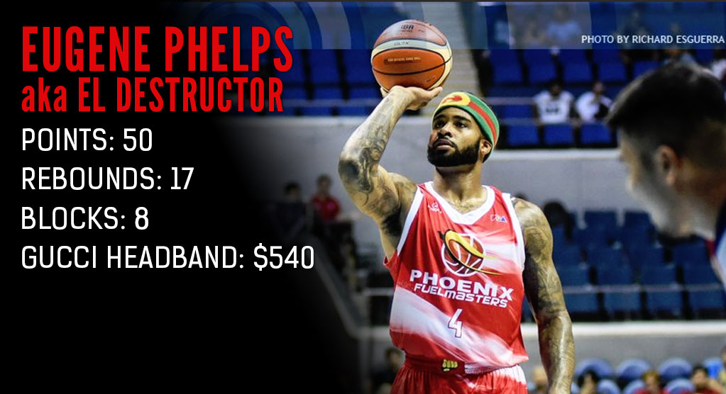 "Eugene ""El Destructor"" Phelps Scores 50 While Wearing A $540 Headband"